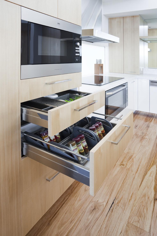 Rina Cohen Interiors, RCI Designs, Interior Design, Award Winning Kitchen, spice drawer storage