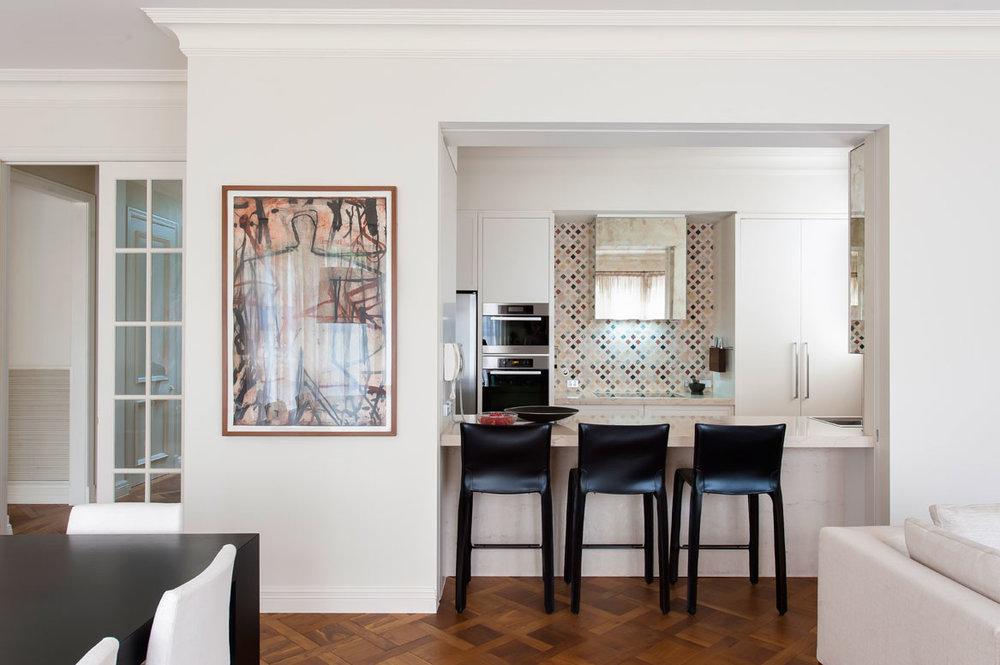 Rina Cohen Interiors, RCI Designs, Interior Design, Galley Kitchen Toorak Kitchen Bar