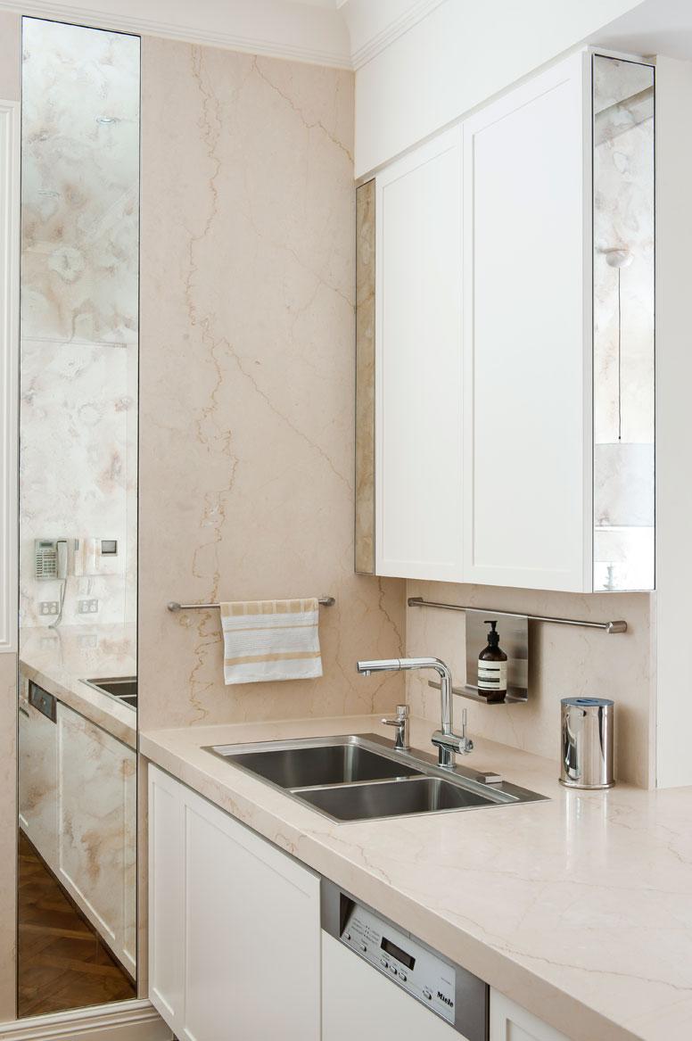 Rina Cohen Interiors, RCI Designs, Interior Design, Galley Kitchen Toorak, Limestone