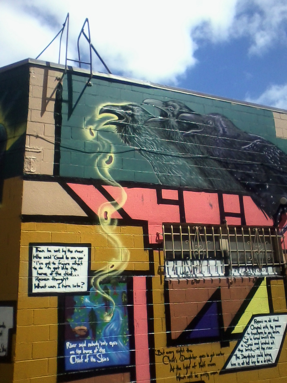 New murals in the neighborhood: Community Rejuvenation Project