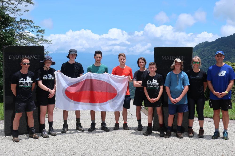 Western Heights College trekkers at the Kokoda Four Pillars in Papua New Guinea, November 2018.