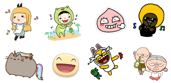 Sticker's Copyright of Facebook, KakaoTalk and WeChat