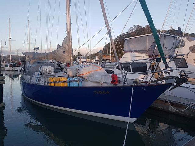 Tioga is all ready to head offshore again, this time without us 😭 Having missed our window to sail her back to Vancouver ourselves we've hired a delivery captain. It's never easy handing your boat over to someone else, but Captain Fraser has 100,000 nautical miles under his belt so we know she's in good hands. Next stop: life on land! . . . . . . . . #sail #sailing #sailtheworld #sailingtheworld #sailor #sailors #sailboat #boating #offshore #offshoresailing #offshoresailors #travel #traveltheworld #travelgram #instatravel