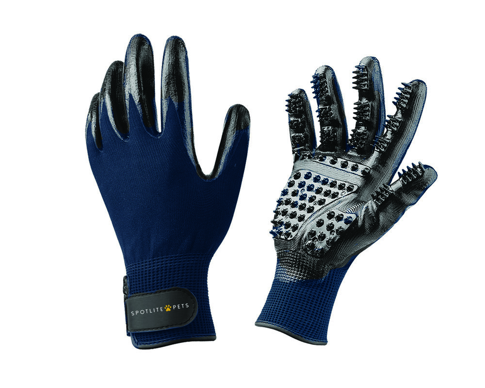 SPOTLITE GROOMING GLOVE NAVY BLUE