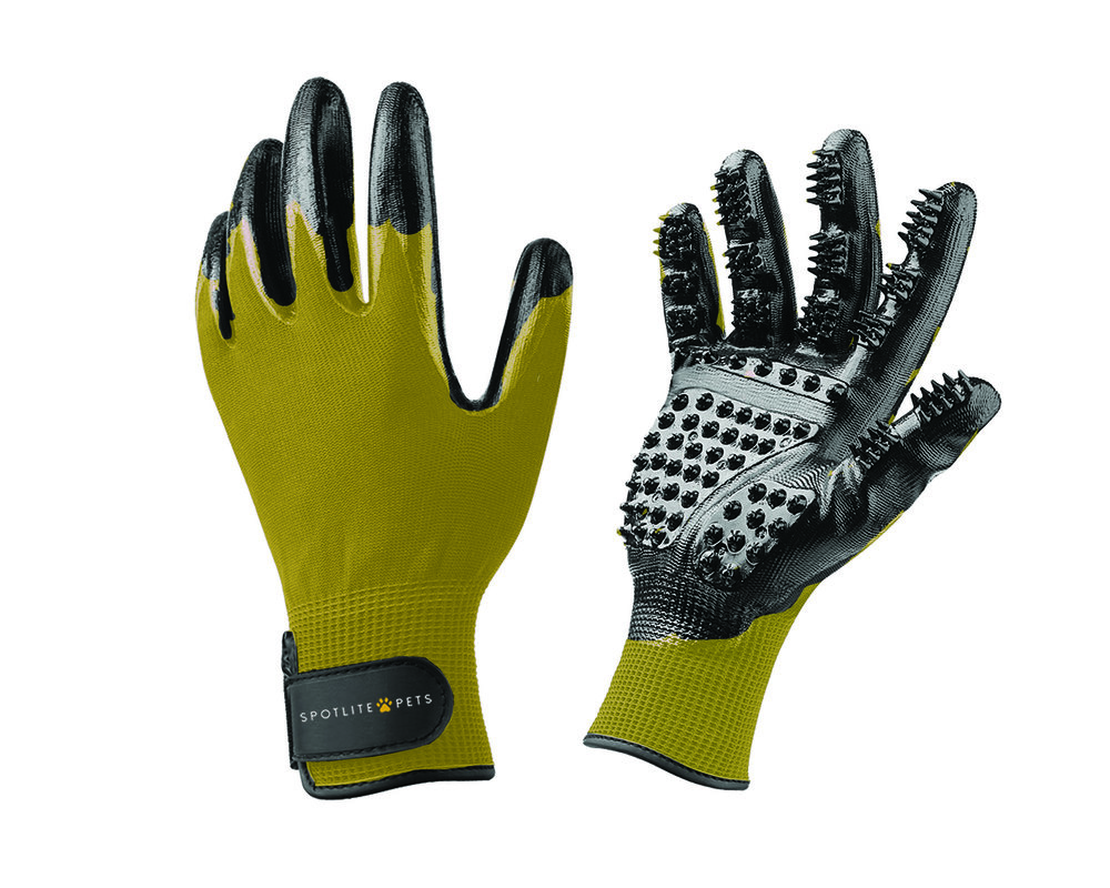 SPOTLITE GROOMING GLOVE YELLOW