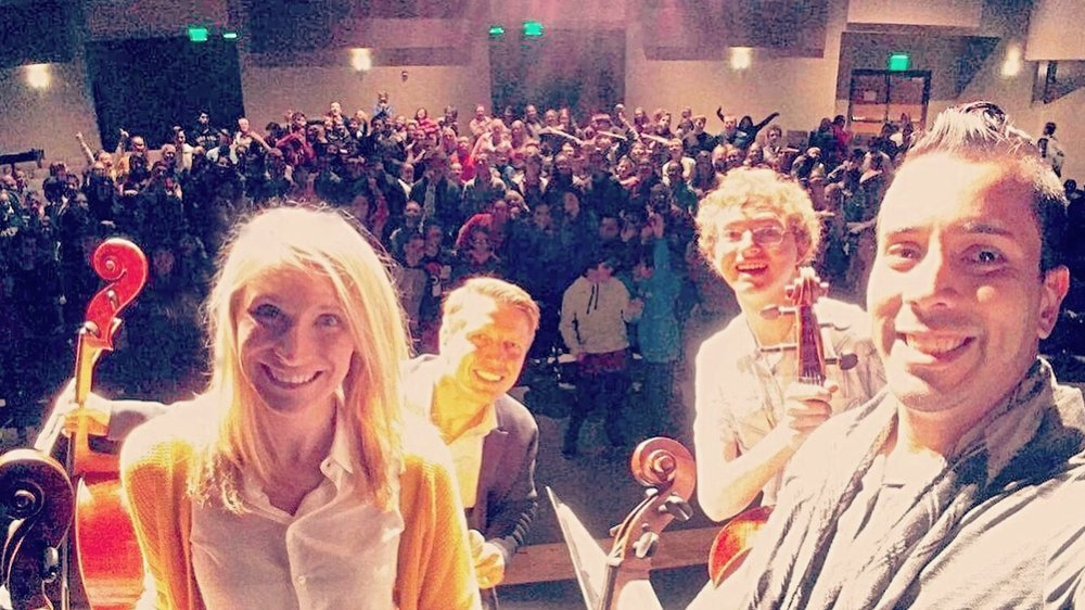 The kids at Canyon Ridge made us feel like rockstars!