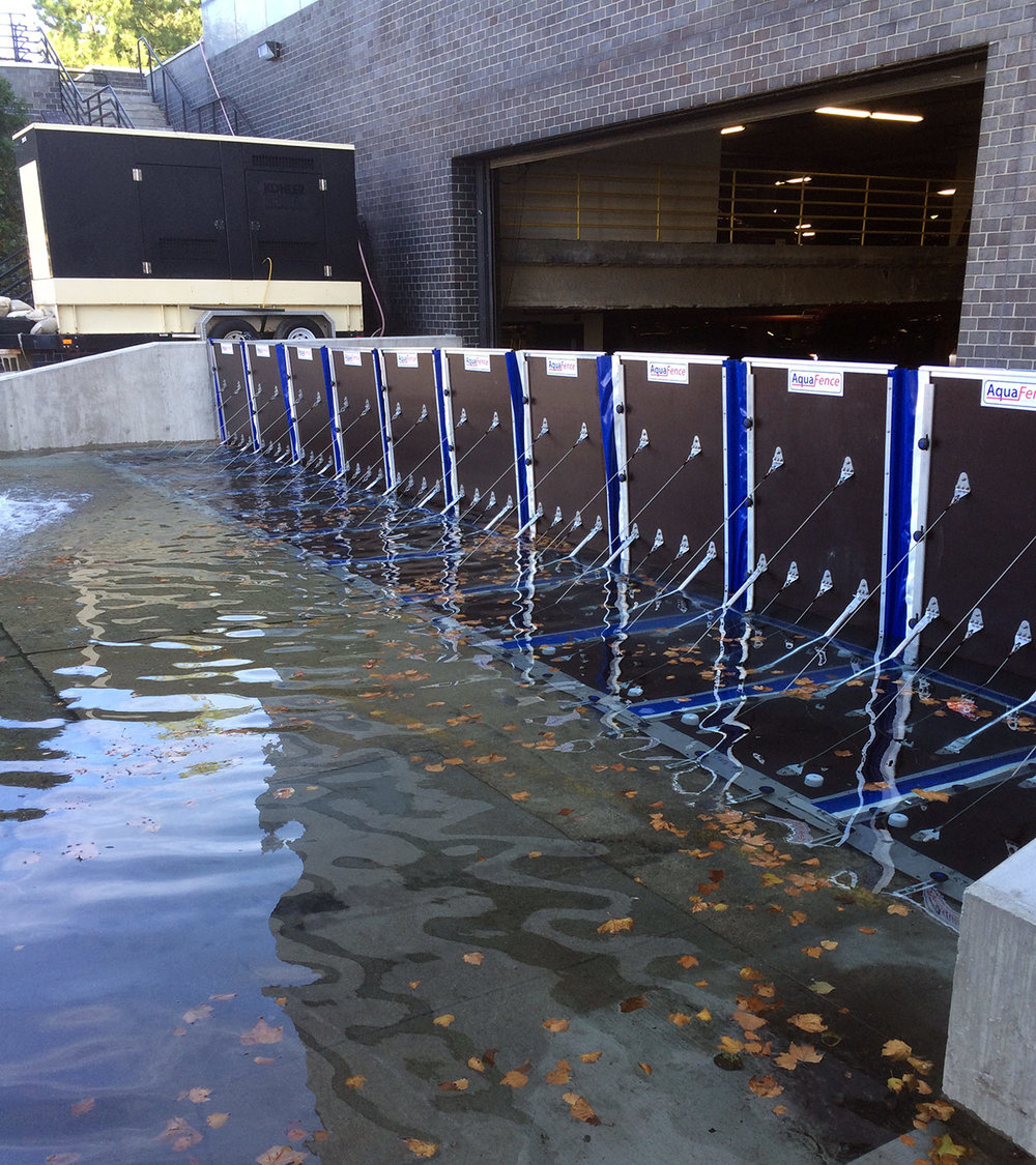 Deployable flood mitigation   Awarded highest level certification for flood barriers  - Perimeter - Openings - Building Integrated -