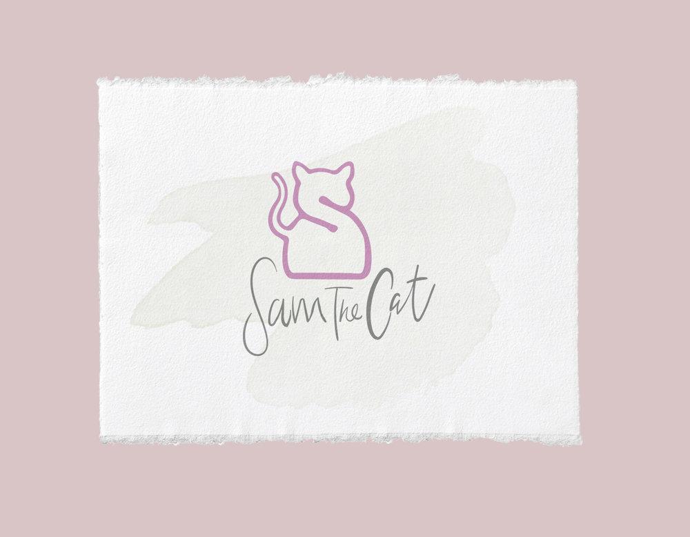 sam the cat logo concept.