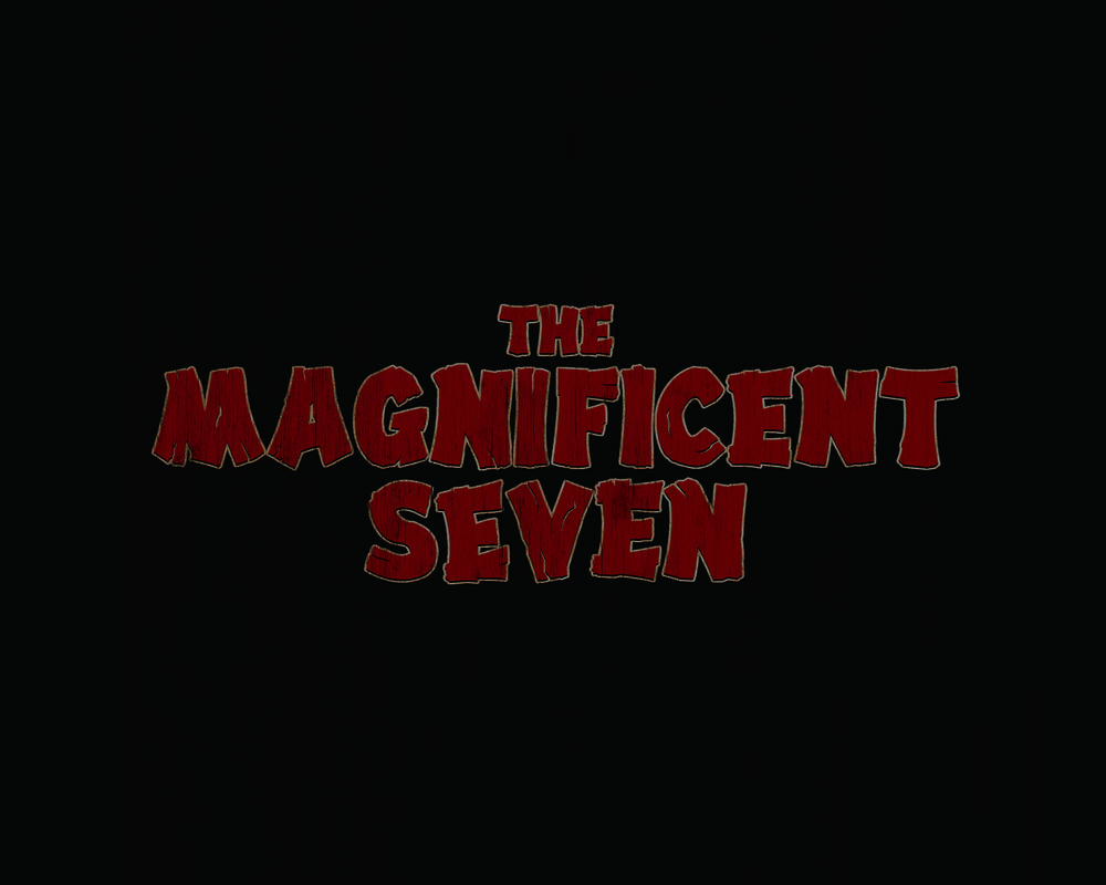 'the magnificent seven' title treatment redesign.