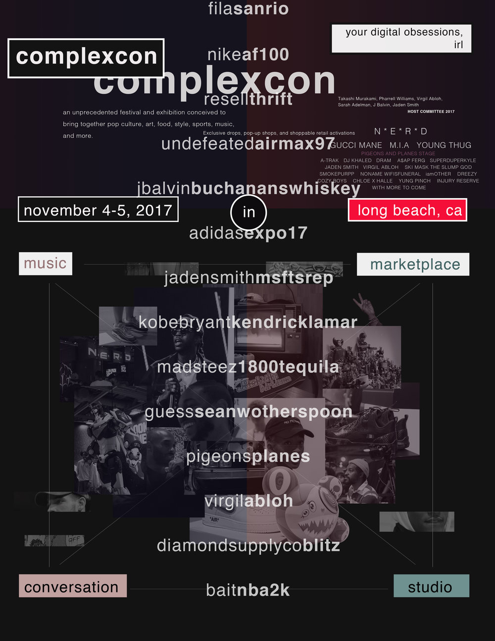 complexcon 2017 poster. (katherine mccoy style)