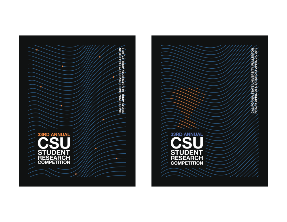 california state university, student research competition booklet cover.
