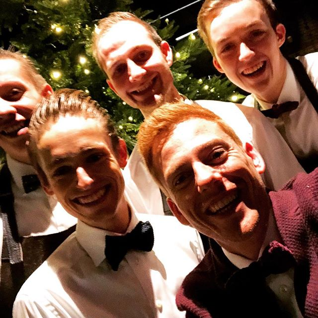 The HJ gentlemen are so ready for our last staff diner of 2017 #almostchristmas #topteam