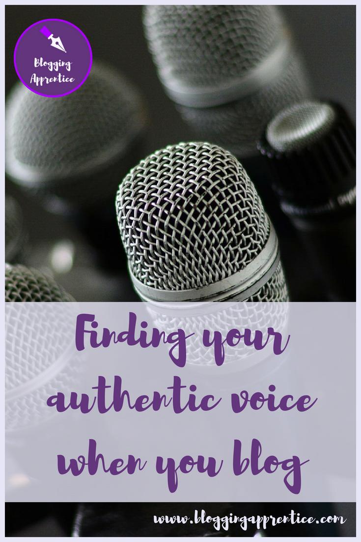 Finding your authentic blogging voice - on BloggingApprentice.com