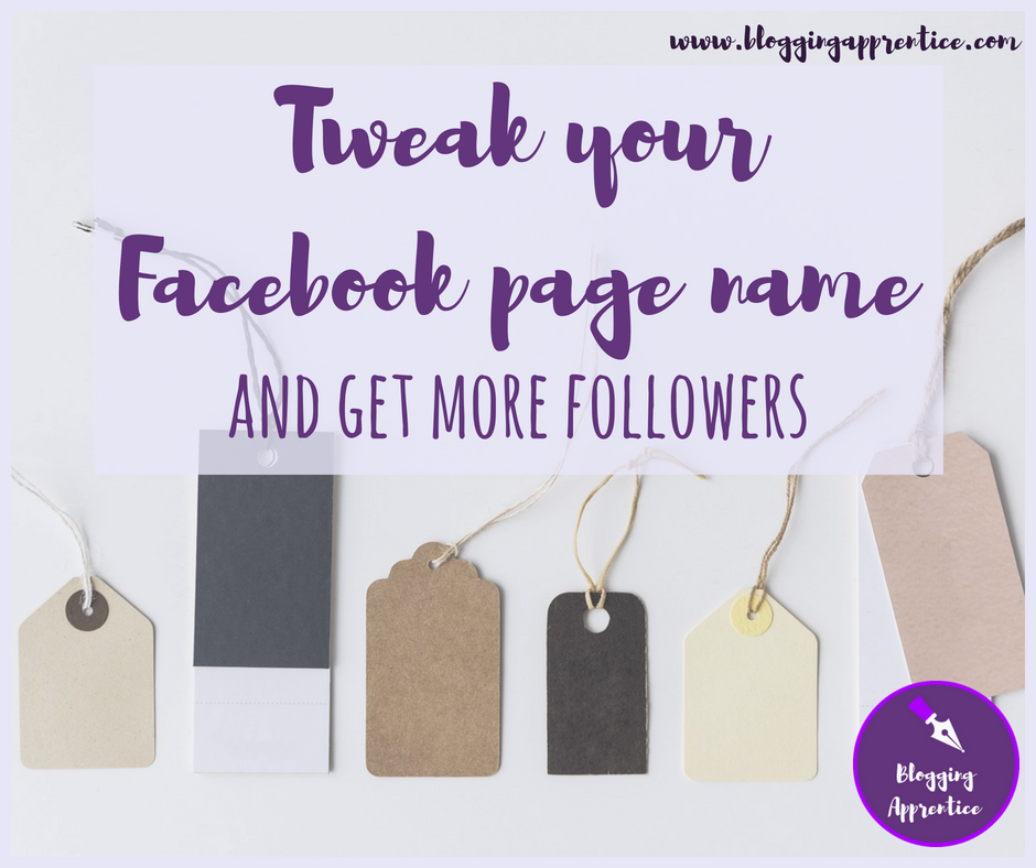Blogging Apprentice — Choose a foolproof name for your Facebook page