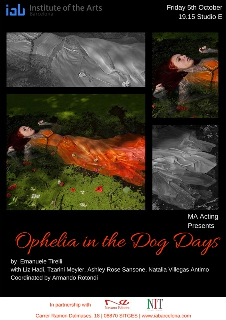 MA rehearsed reading of Ophelia in the Dogs Day - the first MA Acting performance for Class of 2018/19. October 5th 2018.
