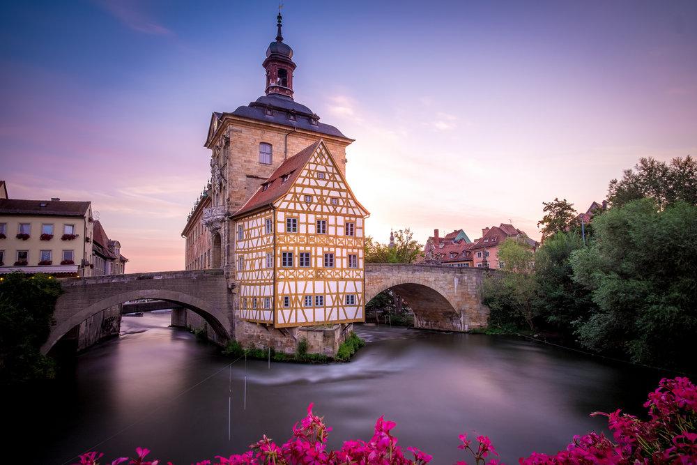 Altes Rathaus Bamberg bei Sonnenaufgang