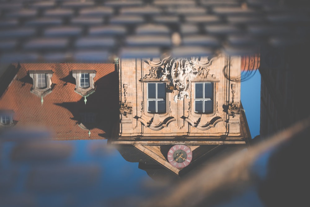 Rathaus Bamberg steht Kopf