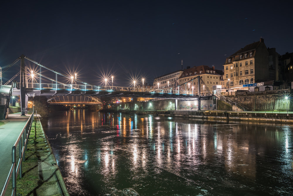 Kettenbrücke Bamberg im Winter