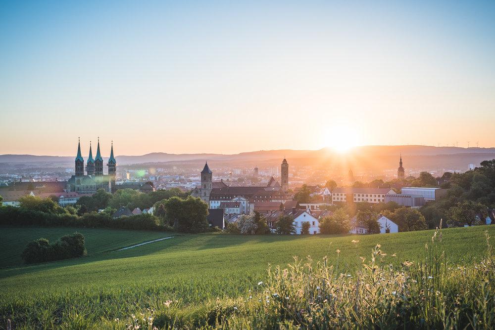 Sonnenaufgang über Bamberg