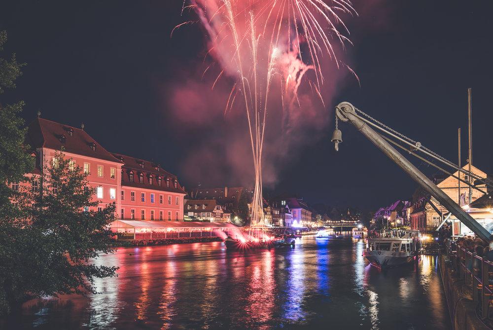 Feuerwerk zur 68. Sandkerwa Bamberg