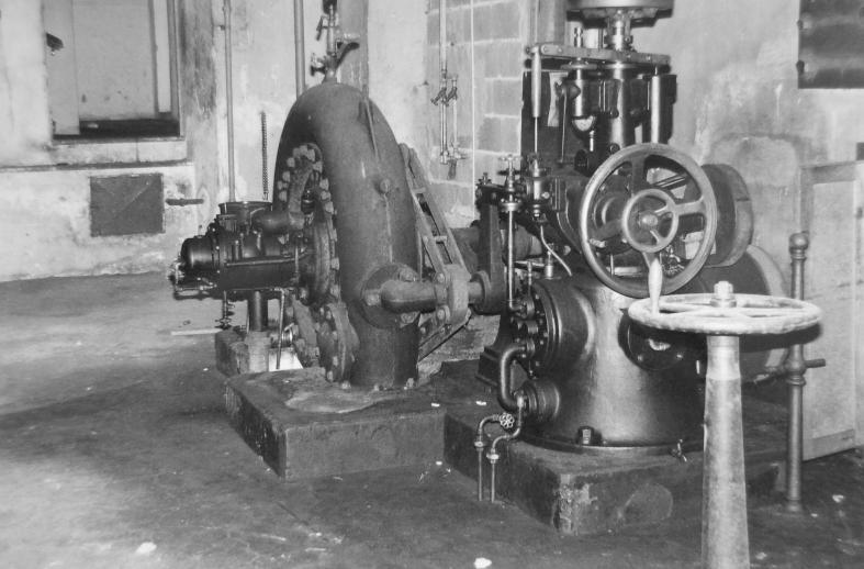 Die Turbine der Rüschwerke Dornbirn war von 1909 und blieb bis zum Schluss in Betrieb  Foto 1966 Gemeindearchiv Thüringen