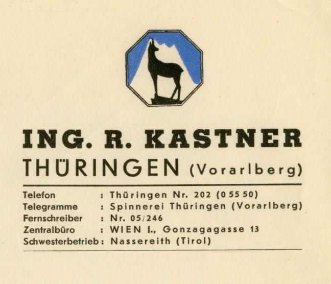 Briefkopf von 1959  Vorarlberger Landesarchiv