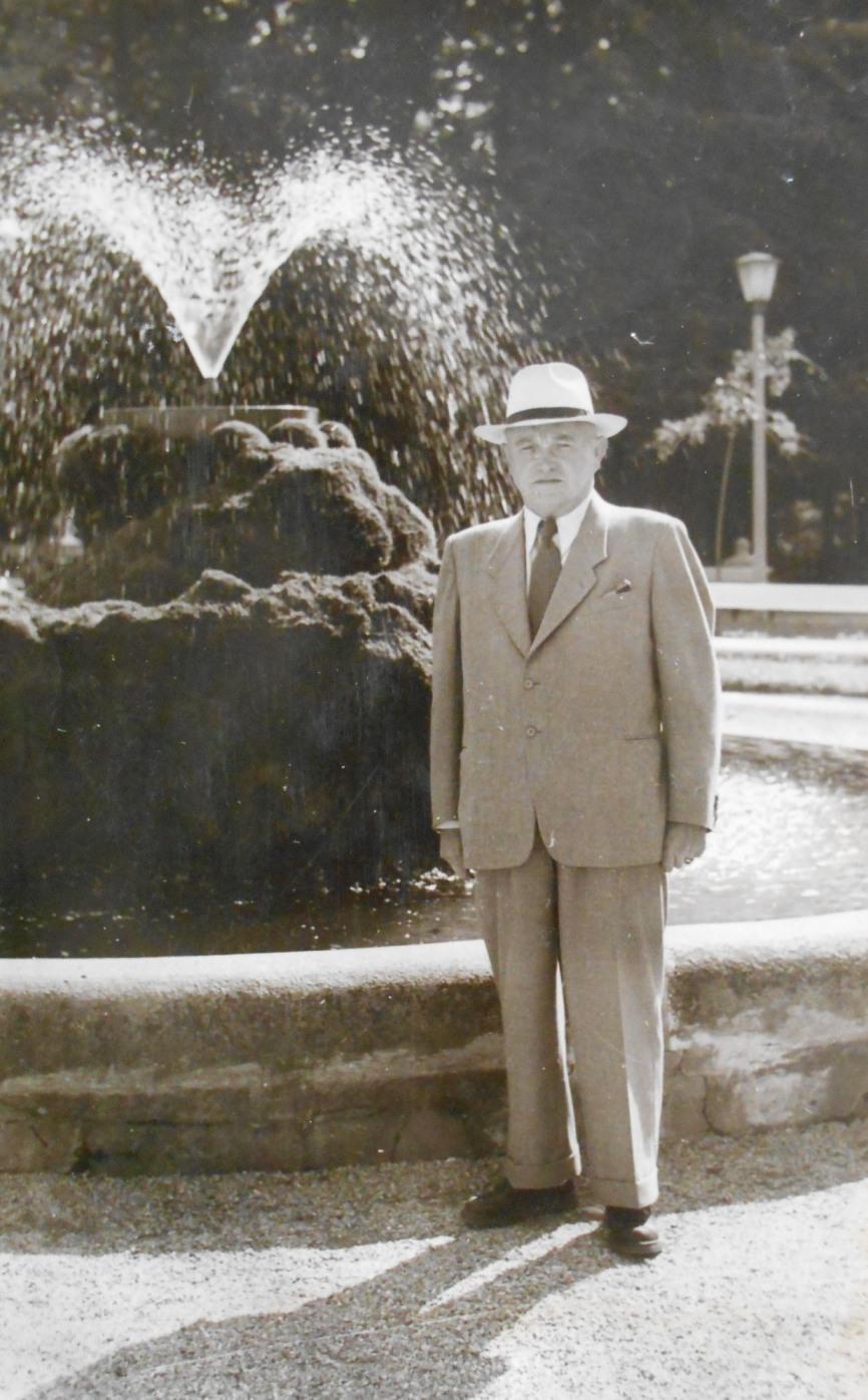 Färbereidirektor Karl Hübner  Foto um 1960 zur Verfügung gestellt von Renate Burtscher