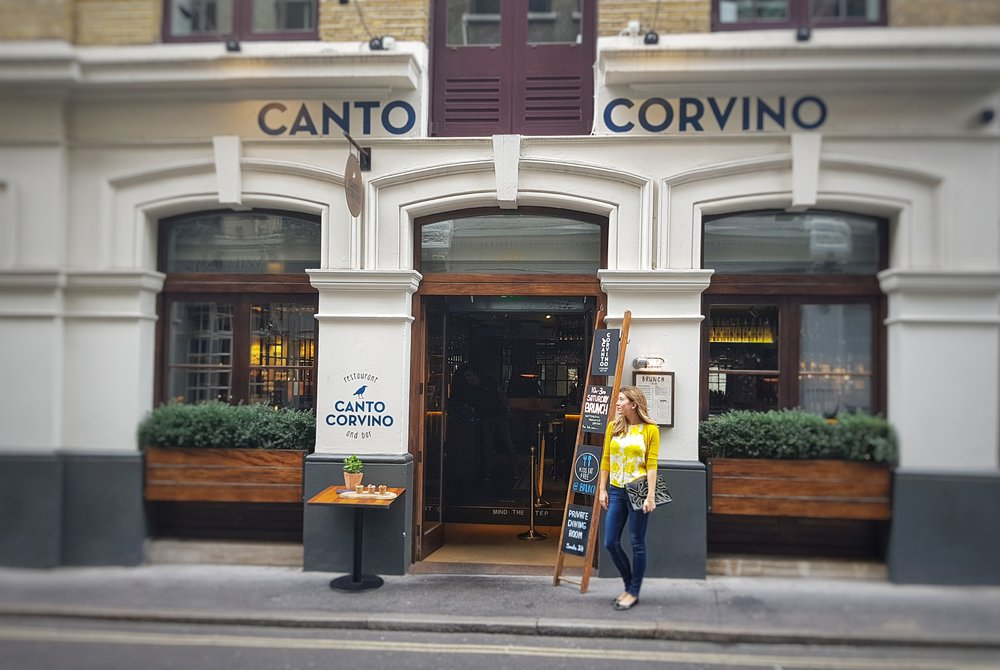 CANTO CORVINO LONDON RESTAURANT REVIEW