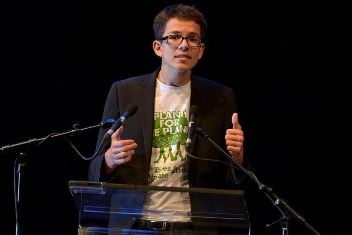 SASCHA STEINBACH VIA GETTY IMAGES Felix Finkbeiner at the Steiger Award 2015 in Dortmund, Germany.