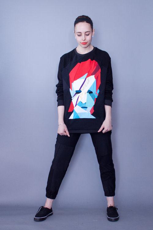 A one of a kind David Bowie piece from ZWD - Zero Waste Daniel