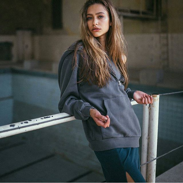 @chudnovskayat in our Grey Unisex Hoodie - back in stock 🙌 #shopnow on kidkarma.com  #streetstyle #berlin #consciousfashion #hoodie #wearekarma #kidkarma