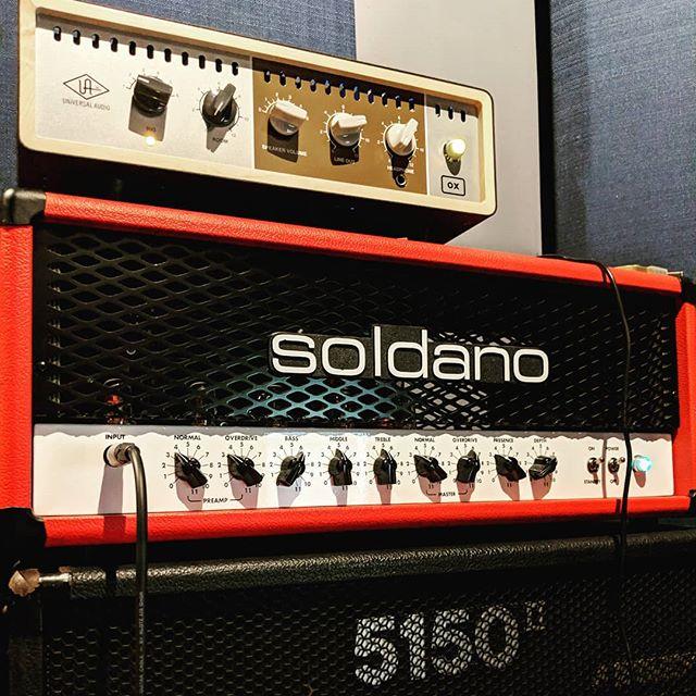 @uaudio ox absolutely rox.  @soldanocustomamplification Hot Rod 50 shining though today!  #guitartracking #headatlas #studio #uaudio #universalaudio #torridfall