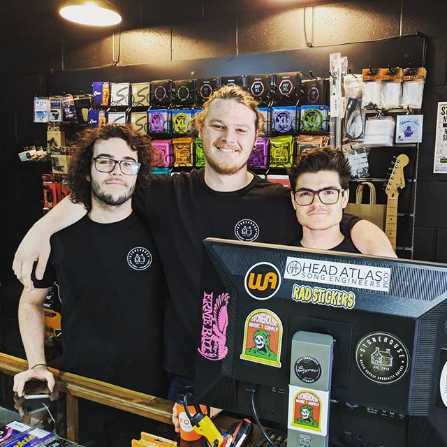 These guys are rad!  Thanks @stonehousemusicsupply for repping @headatlas!  Go check out their amazing shop!  Great gear, awesome coffee and  good vibes.  We will be collaborating with the team soon on some cool projects.  Watch this space 👀 . . . . . . #musicshop #coffee #headatlas #stonehousemusicsupply #localbusiness  #collab #ideas