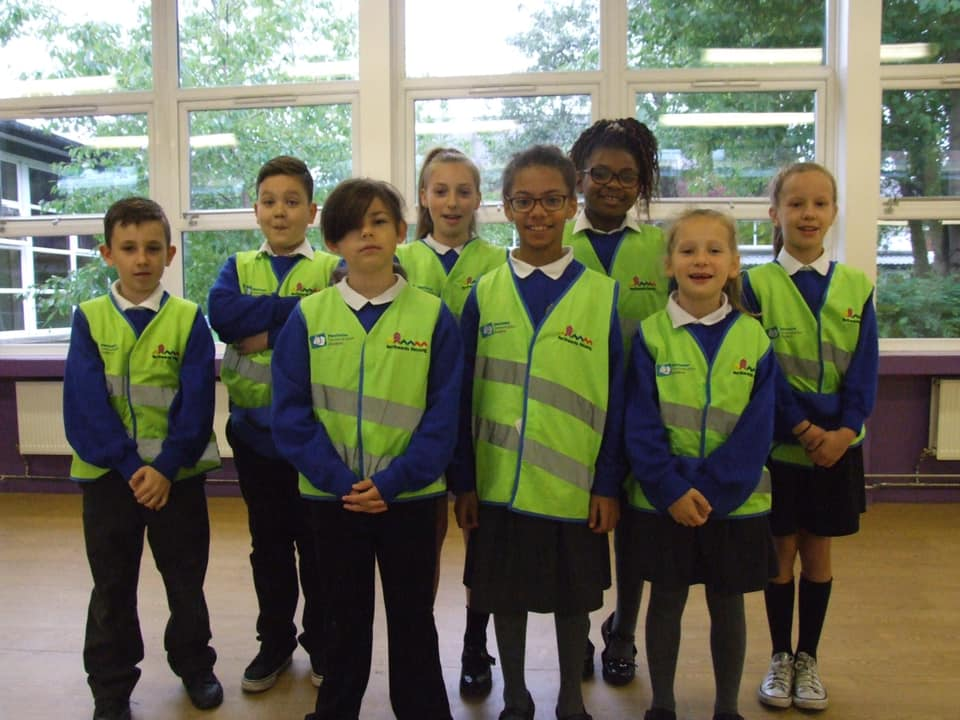 Meet our Urban Crew! These children from Year 5 work hard to keep our school safe and eco-conscious! They are working towards their first qualification!