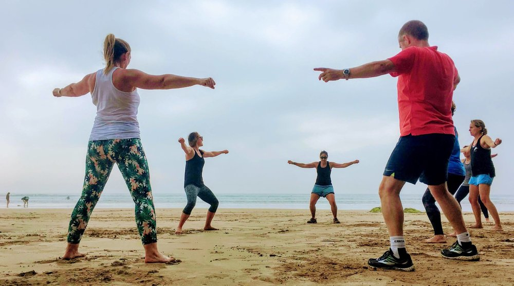 Beach circuits, Watergate Bay, Cornwall