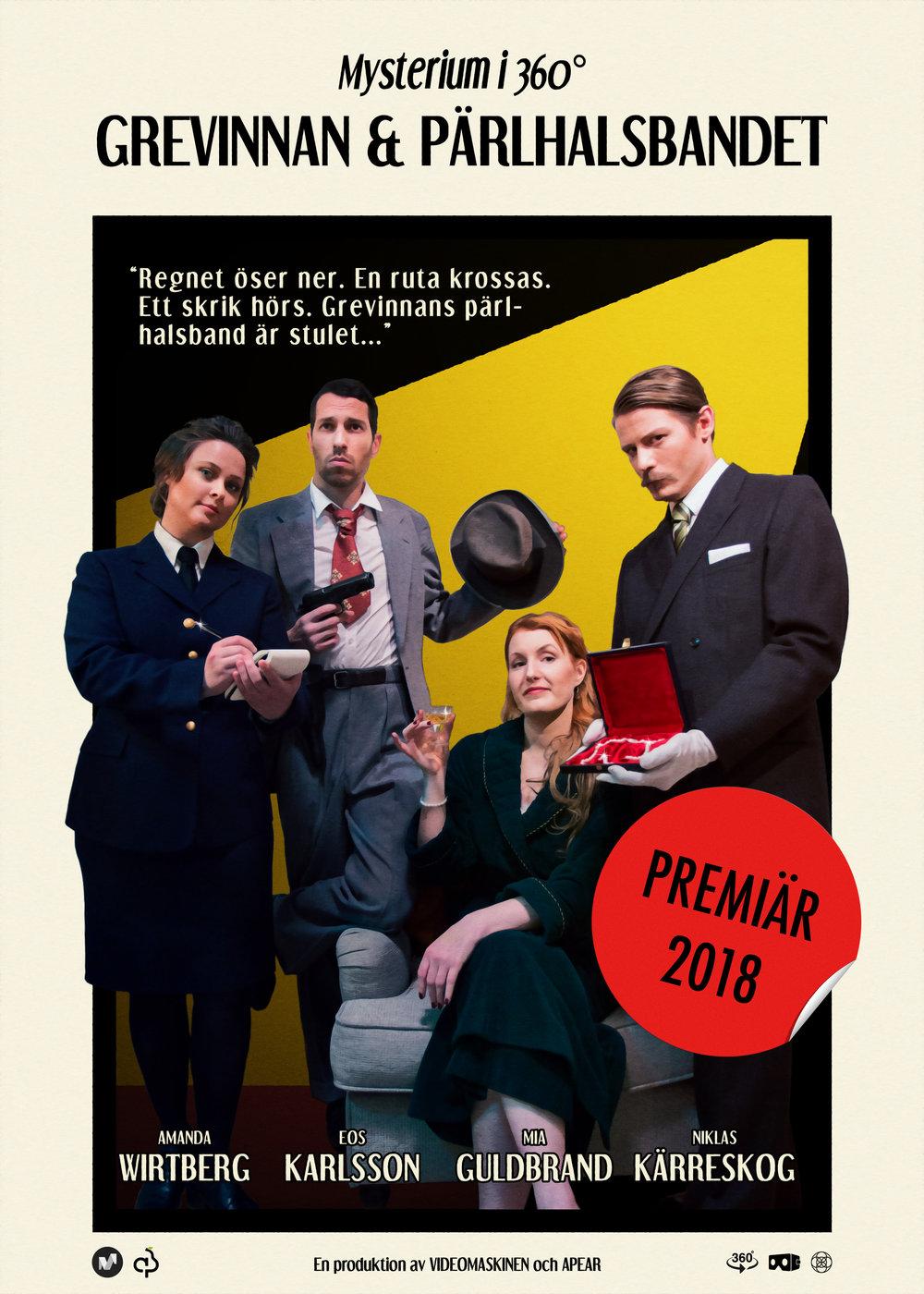Grevinnan och pärlhalsbandet poster - premiär 2018