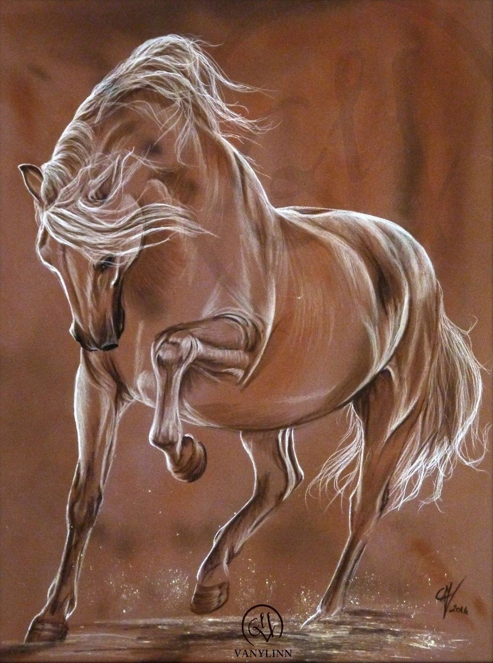 Dance horse dressage pastel sketch light.jpg
