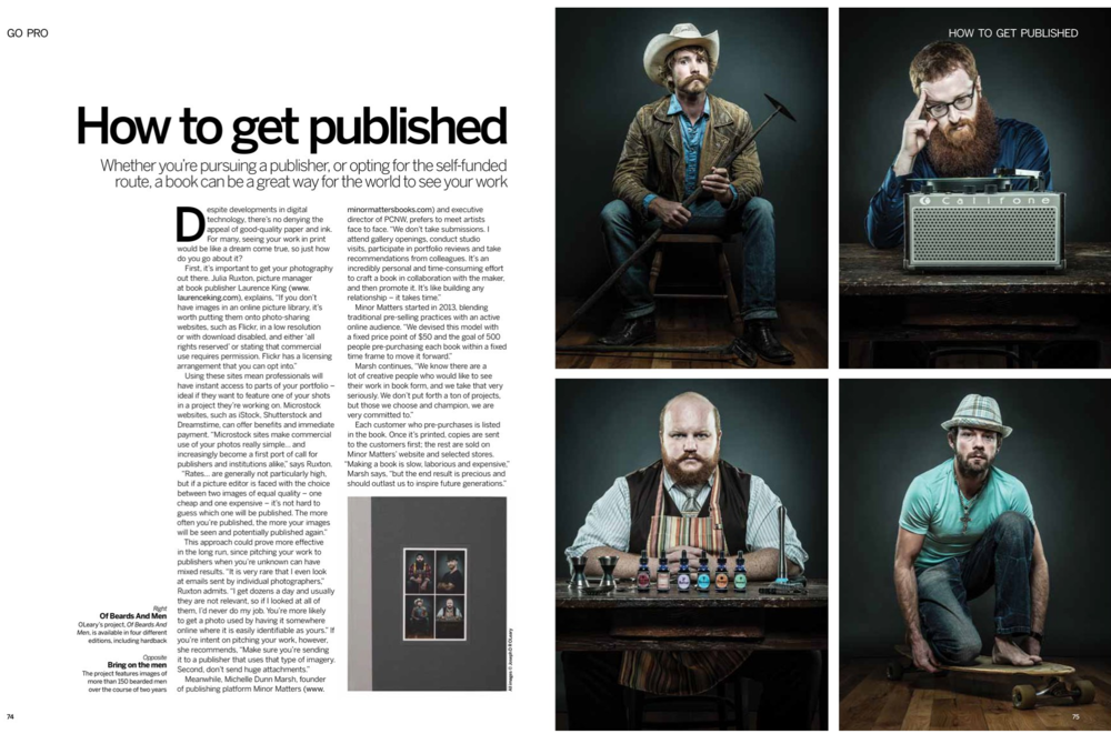 Freelance feature writing for Digital Photographer Magazine