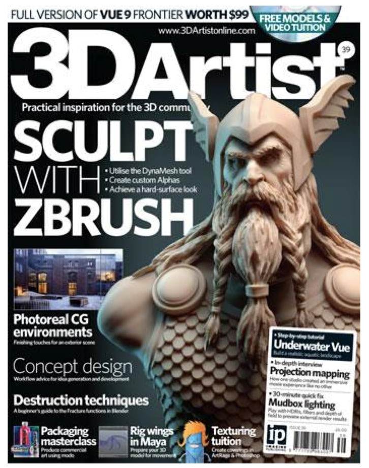 Editor, 3D Artist. Includes art direction, commissioning and editorial content