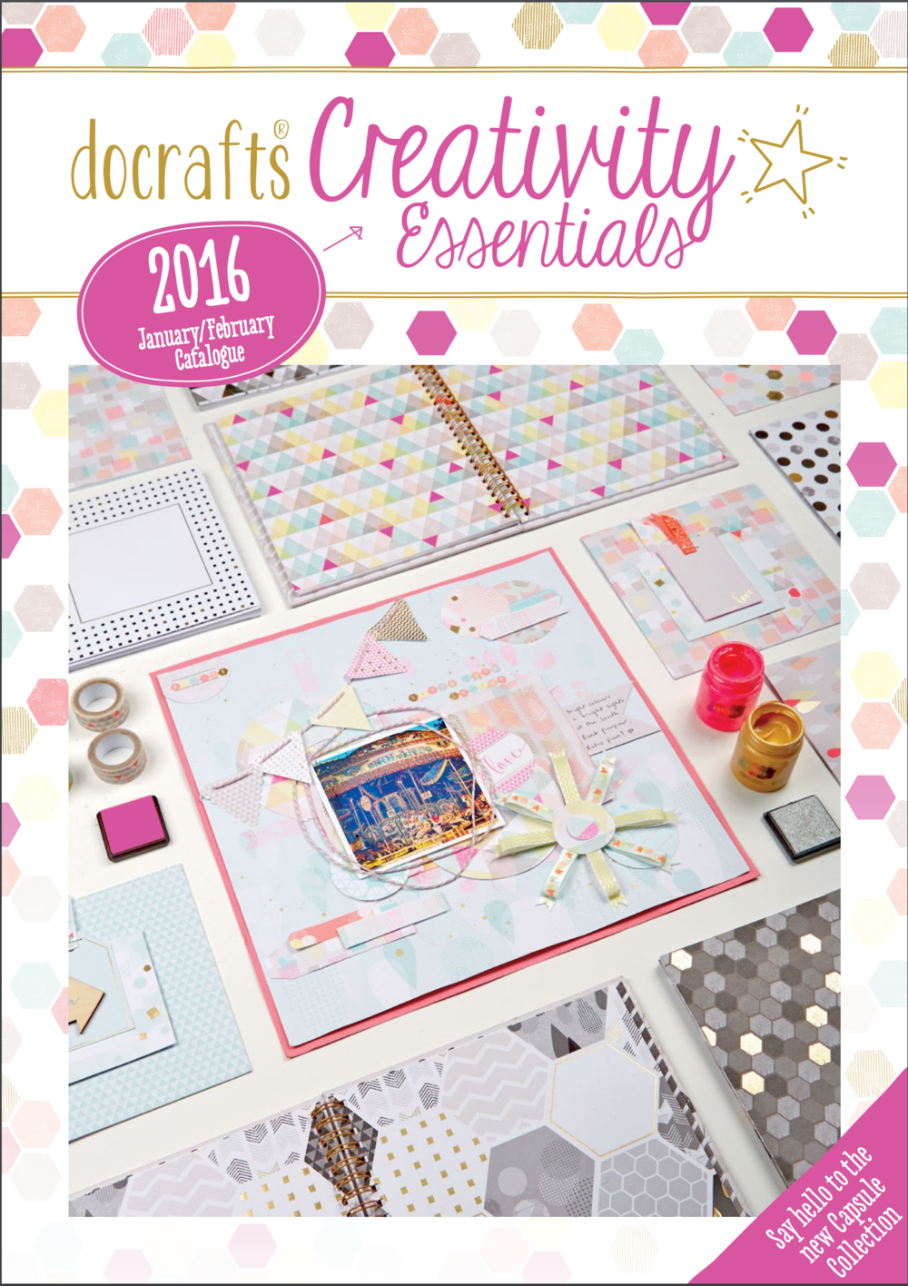 Editor, Creativity Essentials: Docrafts' bi-monthly trade catalogue. Editorial development, creative concepts, including custom print solution