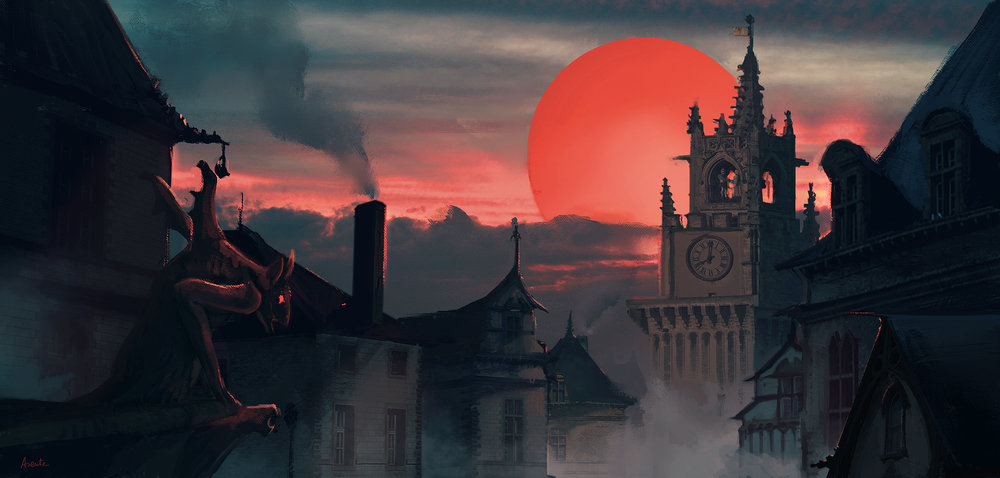 GOTHIC RED MOON