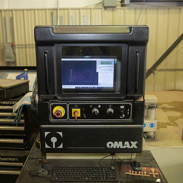 Send us a design and watch it come to life. We work around the clock to prepare your pieces. Visit AtlantaWaterjet.com for more information. #waterjet #georgia #omax