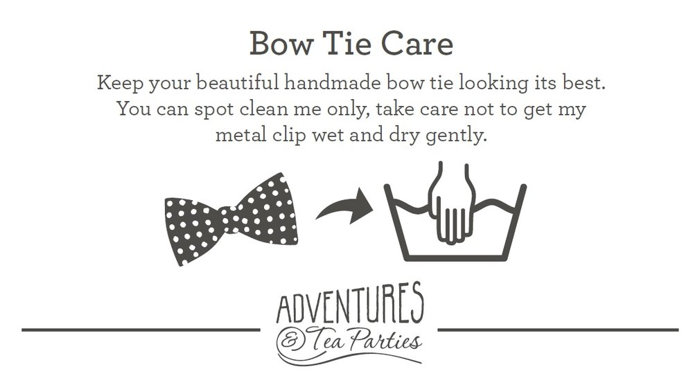 bow tie care cards