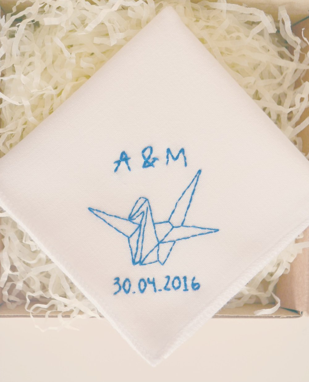 personalised logo on handkerchief