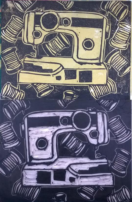 sewing machine print