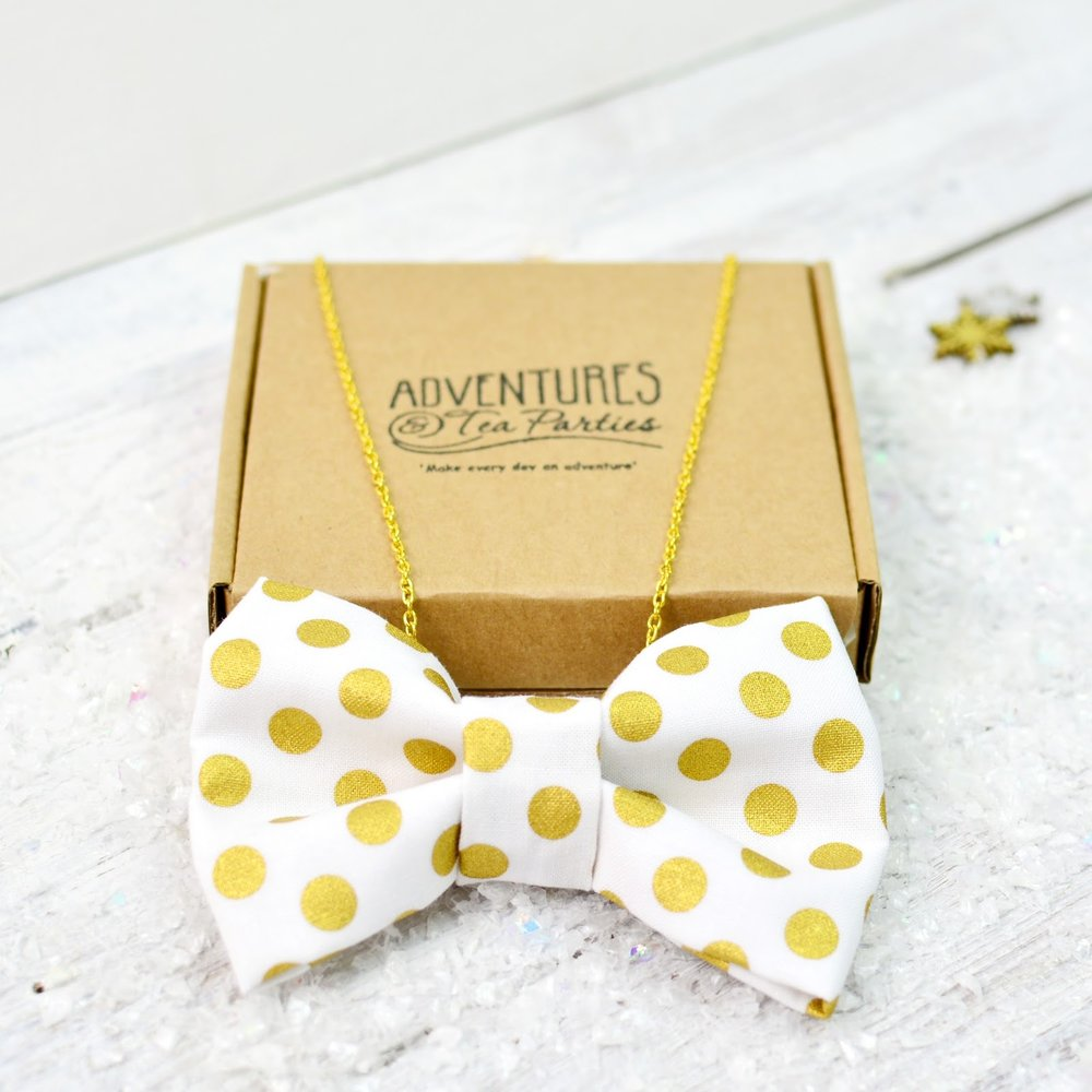 Adventures & Tea Parties Bow Tie Necklace
