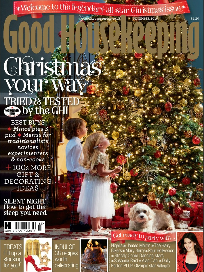 Good Housekeeping December 2016 Issue Front cover