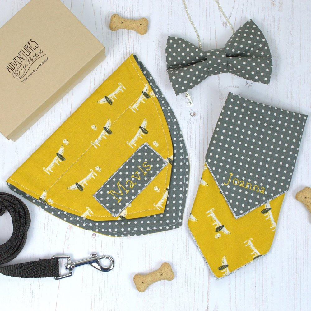 Adventures & Tea Parties Personalised Dog Lovers Gift Set