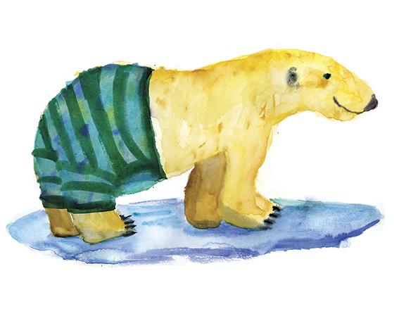 Rosie Webb's illustrations - Bear in Underwear