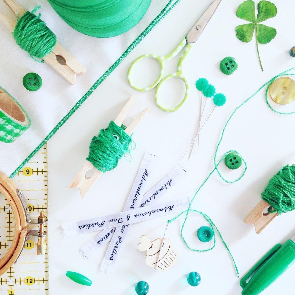 Green Flatlay